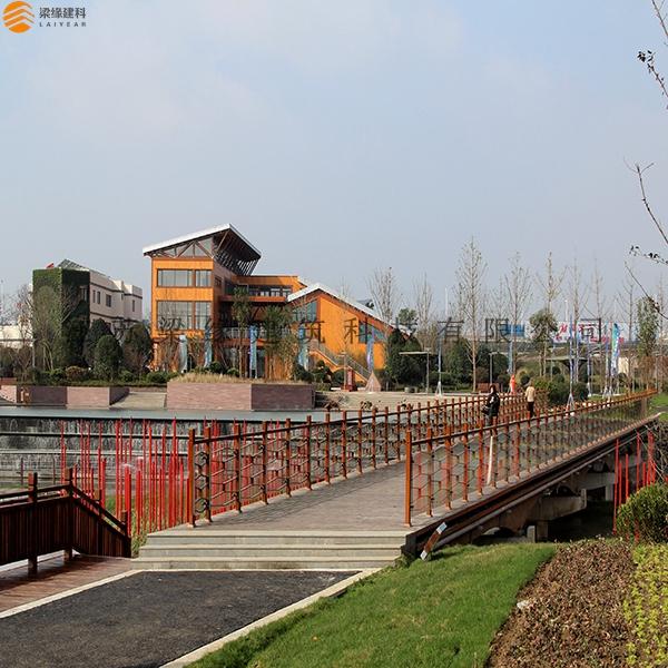 国家绿建区混合木结构主展馆
