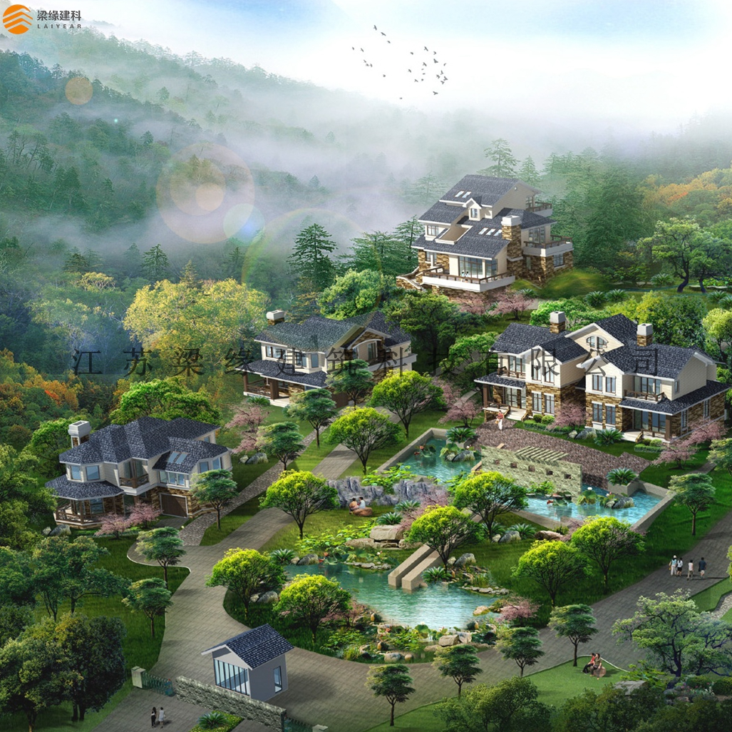 洛阳鹤鸣峡木结构度假别墅