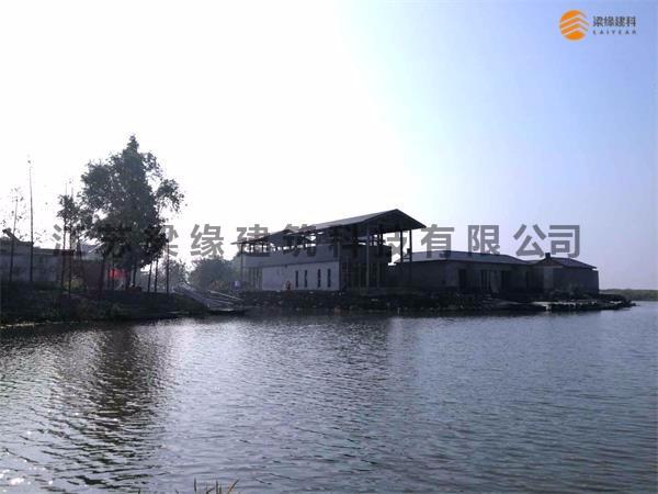 兴化东罗村民宿接待中心(民宿木屋)施工过程