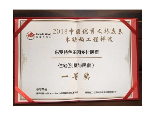 2018中国优秀文旅康养万博手机版登入工程评选一等奖