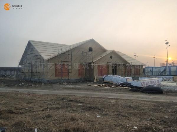 梁缘建科河南轻型木结构项目顺利结构封顶
