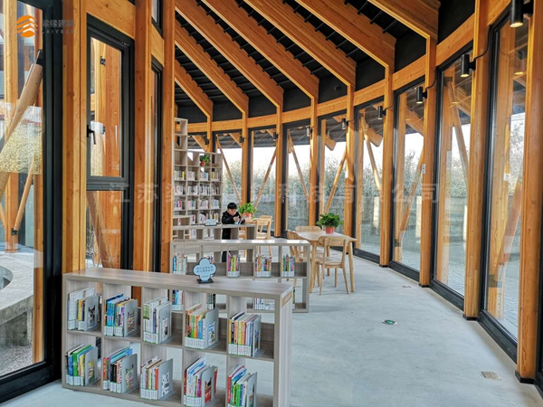 梁缘建科扬州乡村木结构书屋项目投入使用