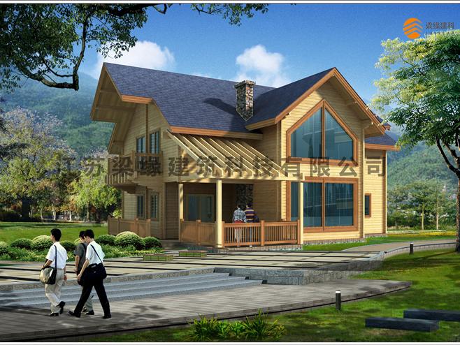 木屋别墅建造的过程