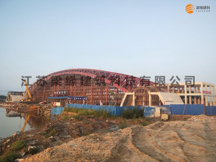 梁缘建科倾力打造的世界第一单跨木桥顺利合拢